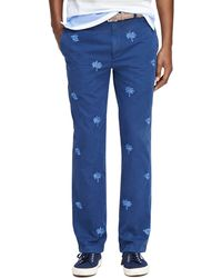 Brooks Brothers Milano Fit Tropical Embroidered Chinos - Lyst