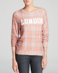 Wildfox Pullover London Plaid - Lyst