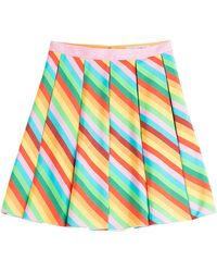 Valentino Silk Chevron Printed Skirt - Lyst