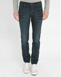 DIESEL   Black 3d Thepphar Coated Slim-fit Jeans   Lyst