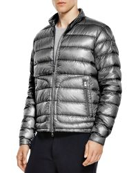 Moncler Acorus Quilted Down Jacket gray - Lyst
