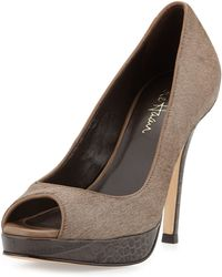 Cole Haan Stephanie Two-Tone Platform Pump - Lyst