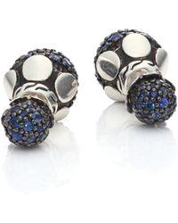 John Hardy   Dot Blue Sapphire & Sterling Silver Double-sided Stud Earrings   Lyst