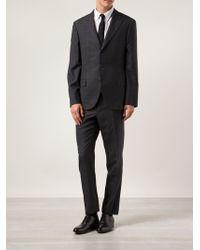 Brunello Cucinelli Gray Plaid Suit - Lyst
