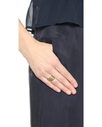 House of Harlow 1960 - Shakti Stack Ring Set - Gold Multi - Lyst