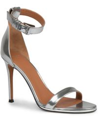 Givenchy Nadia Metallic Leather Sandals - Lyst