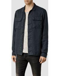 AllSaints Jutland Shirt blue - Lyst