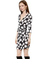 Diane Von Furstenberg New Julian Two Mini Wrap Dress  Vintage Stars White - Lyst