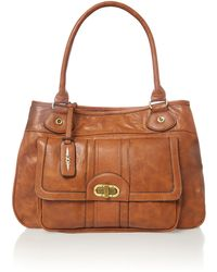 Ollie & Nic Nikita Tan Large Tote Bag - Lyst
