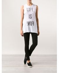 Zoe Karssen Life Is Fun Tshirt - Lyst