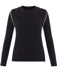 Chinti And Parker Contrastseam Cashmere Sweater - Lyst