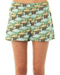 Emma Cook - Hawaiian Swan-Print Shorts - Lyst