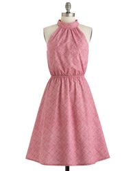 ModCloth One Bright Bushel Dress pink - Lyst