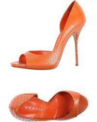 Casadei Pump orange - Lyst