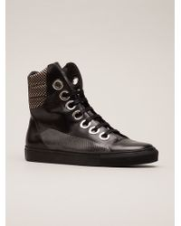 Raf Simons High Top Trainers - Lyst