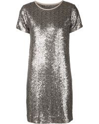Paul Smith Gray Sequin Dress - Lyst
