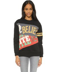 Marc By Marc Jacobs - United Banner Sweatshirt - Black Multi - Lyst