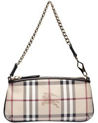 Burberry Clara Haymarket Checked Shoulder Bag - Lyst