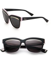 Dior Graphic 55Mm Wayfarer Sunglasses - Lyst