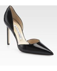 Manolo Blahnik Tayler Patent Leather Dorsay Pumps - Lyst