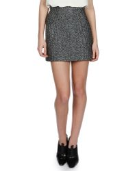 Balenciaga Jacquard Mini Pencil Skirt - Lyst