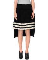Y-3 3/4 Length Skirt black - Lyst