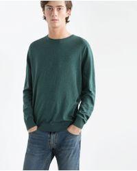 Zara | Round Neck Sweater | Lyst