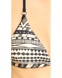 Cm Cia Maritima - Tatuagem Contrast Triangle Bikini Top - Lyst