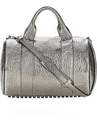 Alexander Wang Rocco in Pebbled Carbon with Rhodium - Lyst