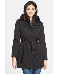 Kristen Blake Belted Hooded Soft Shell Jacket - Lyst
