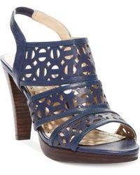 Adrienne Vittadini Blue Primber Sandals - Lyst