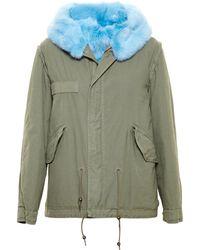 Mr & Mrs Furs Reversible Rabbit Fur Parka - Lyst