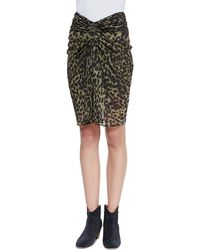Etoile Isabel Marant Coleen Gathered Leopardprint Skirt - Lyst