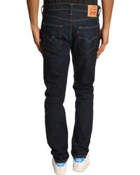 Levi's 508 Tapered Fitted Dark Blue Faded Jeans - Lyst