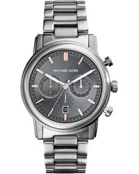 Michael Kors Mens Chronograph Pennant Stainless Steel Bracelet Watch 43mm - Lyst