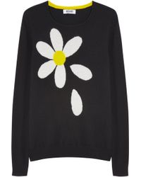 Moschino Cheap & Chic Daisy-intarsia Cashmere Sweater - Lyst