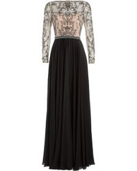 Catherine Deane   Embellished Silk Floor Length Gown - Multicolor   Lyst