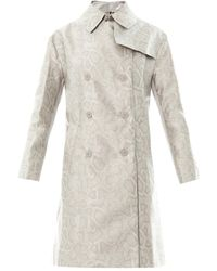 Richard Nicoll - Snake-effect Jacquard Trench Coat - Lyst