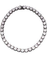 Fallon Classique Crystal Necklace silver - Lyst