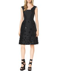 Michael Kors Sequin-embellished Shantung Dress - Lyst