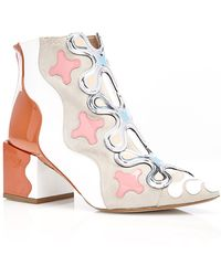 Nicholas Kirkwood Peter Pilotto Ankle Boot In Fennel Suede - Lyst