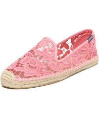 Soludos Smoking Slipper Tulip Lace - Lyst