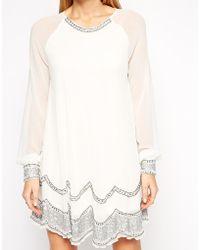 TFNC Belinda Embellished Tunic Dress - Lyst
