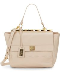 Badgley Mischka Piper Leather Top Bar Satchel - Lyst