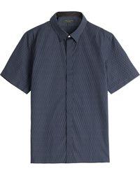 Rag & Bone Printed Cotton Shirt - Lyst