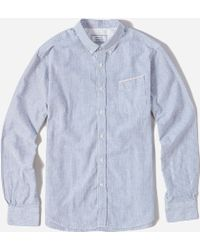Officine Generale Bd Japanese Oxford Selvedge Shirt - Lyst