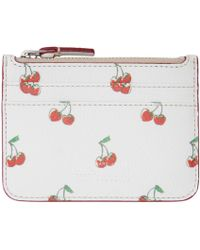 Marc By Marc Jacobs | White Cherry Print Lina Card Holder | Lyst