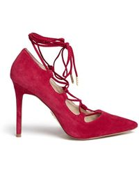 Windsor Smith | 'messy' Lace-up Suede Pumps | Lyst