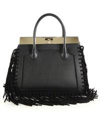 Dee Ocleppo - Roma Medium Convertible Fringed Leather Tote - Lyst