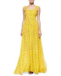 Diane von Furstenberg Star-Print A-Line Maxi Dress - Lyst